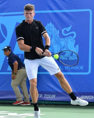 Island tennis star Billy Harris at the TATP Bangkok Classic