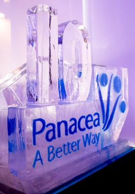 The Panacea ice luge at the official anniversary party